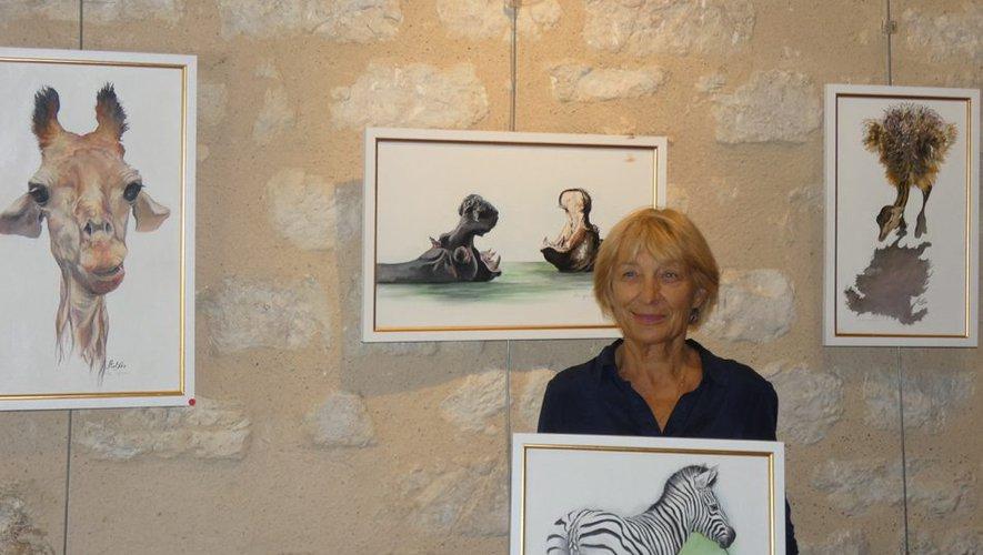 Monflanquin. Exposition d'Arlette Sandre, salle Aquitaine - ladepeche.fr