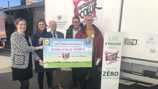 Lot-et-Garonne : Lidl a remis un chèque de 40600 € aux Restos du Cœur - ladepeche.fr