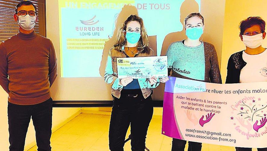 """Villeneuve-sur-Lot. Une belle subvention pour l'association """"Faire rêver les enfants malades"""""""